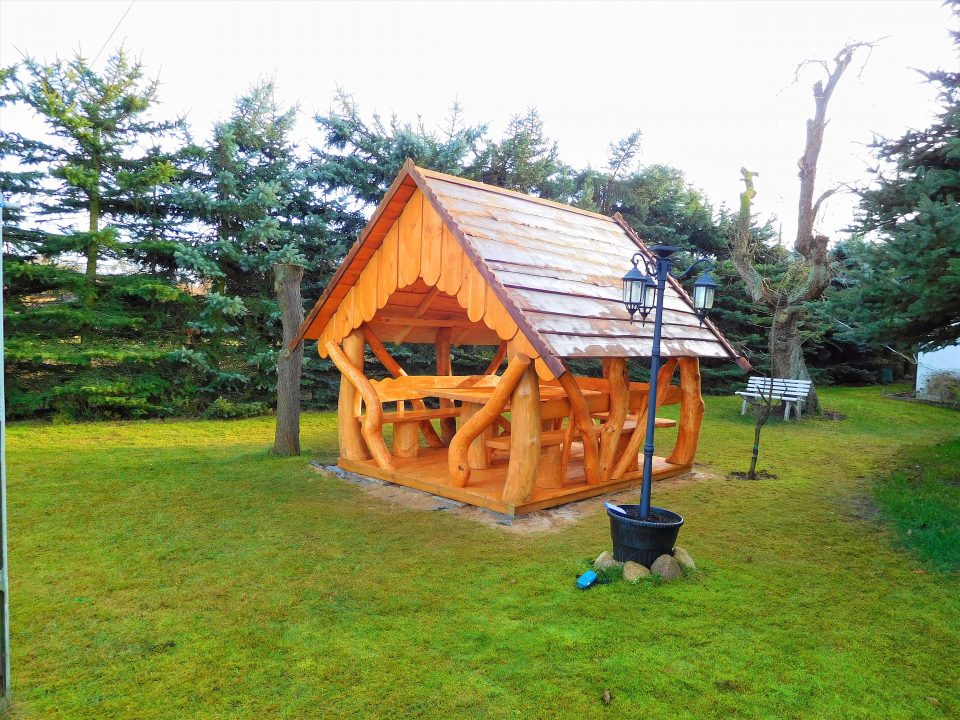Holzpavillon bauen Bausatz