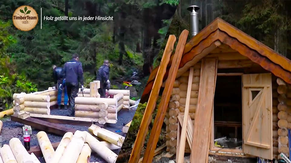 Blockhaussauna Gartensauna selber bauen Timberteam Video