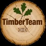 TimberTeam Logo findet sich auf allen Holzbauten - Hobbithaus, Gartensauna, Blockhaus, Aussensauna, Banja, Garten-Pavillon aus Holz