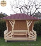 Gartenhaus Pavillion Anna mit Holz-Sitzbank