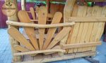 Gartenlaube Pavillon mit Holz-Sitzmöbel