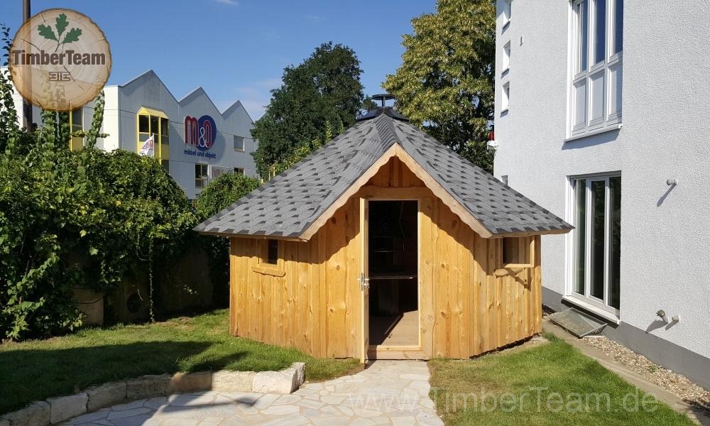 Grillkota mit Sauna-Raum von TimberTeam