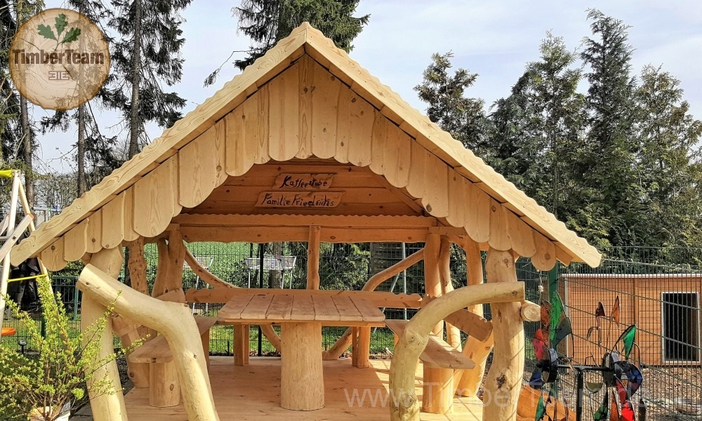3x3 holz pavillon kaufen linie rustical 300x300 timberteam holzbauten. Black Bedroom Furniture Sets. Home Design Ideas