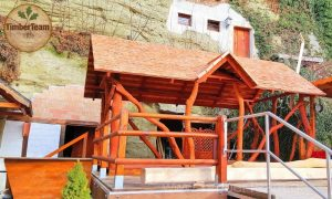 Holz-Pavillon Beispiel als Strandbar