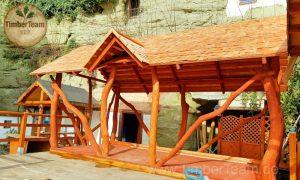 Holz-Pavillon aufbauen mit Bausatz