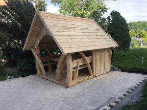 Pavillon bauen