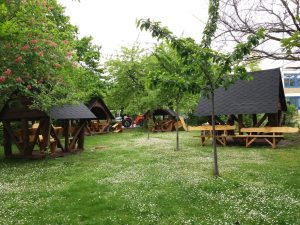 Pavillons im Park