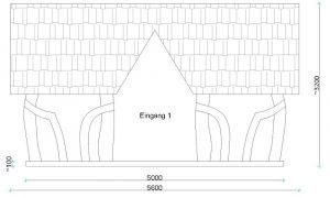 Skizze zum Aufbau eines Holz-Pavillons
