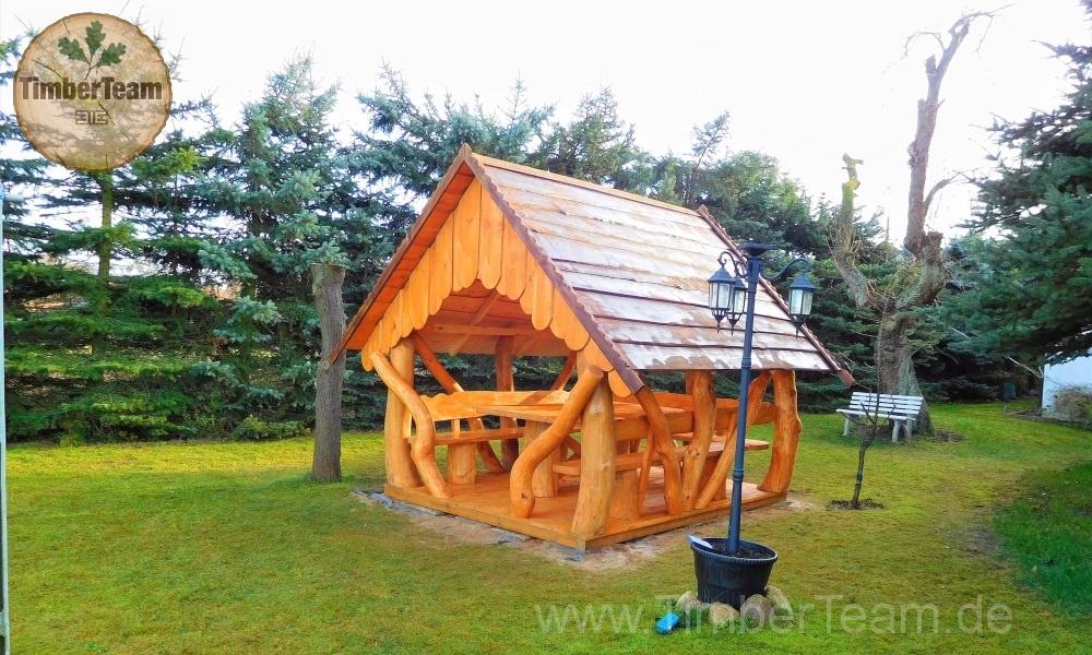 Gartenlaube Pavillion aus Holz selbst bauen