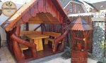 Gartenlaube aus Holz