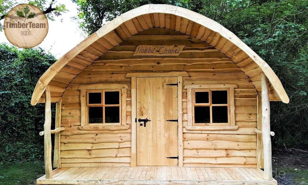 Aussen-Gartensauna nach Maß kaufen (Hobbit-Sauna)