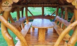 Pavillon-Gartenlaube aus Holz selber aufbauen
