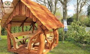 Pavillon aus Holz selber bauen mit Bausatz RST-200x250 von TimberTeam