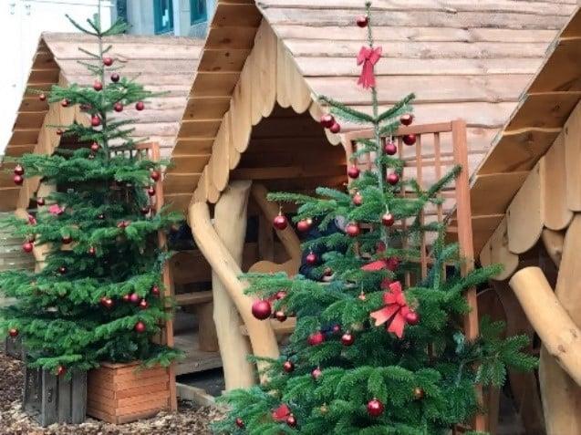 Holz-Pavillons für Weihnachtsmarktstand