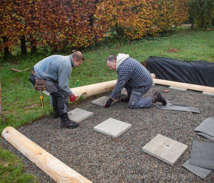 Gartensauna Blockhaus selber bauen Fotostrecke 1