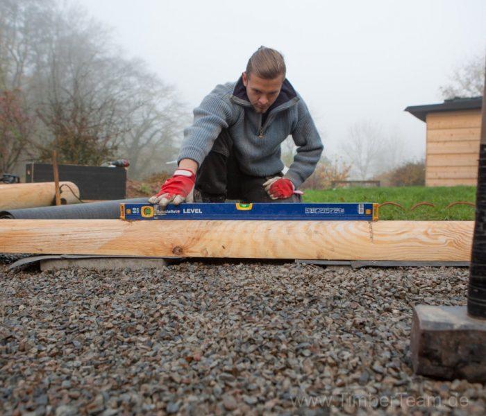Gartensauna Blockhaus selber bauen Fotostrecke 2