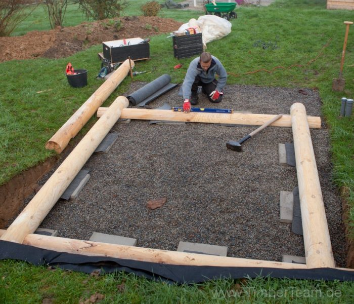 Gartensauna Blockhaus selber bauen Fotostrecke 3