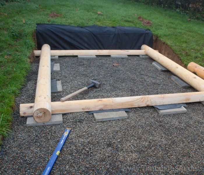 Gartensauna Blockhaus selber bauen Fotostrecke 4