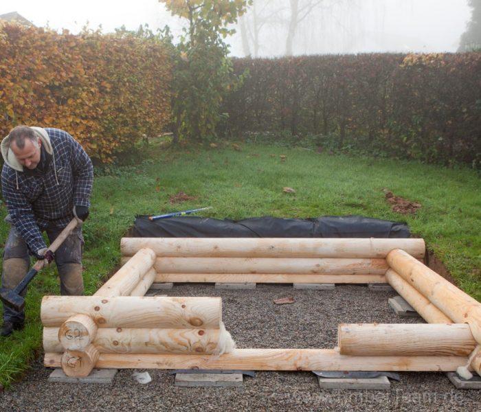 Gartensauna Blockhaus selber bauen Fotostrecke 9
