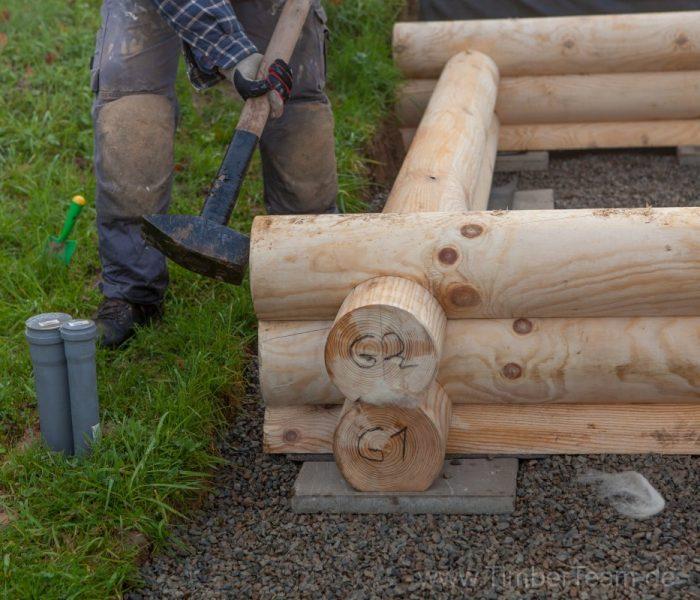 Gartensauna Blockhaus selber bauen Fotostrecke 10