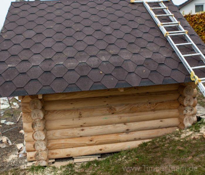 Gartensauna Blockhaus selber bauen Fotostrecke 110