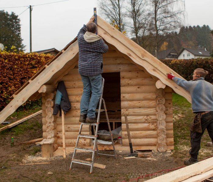 Gartensauna Blockhaus selber bauen Fotostrecke 112