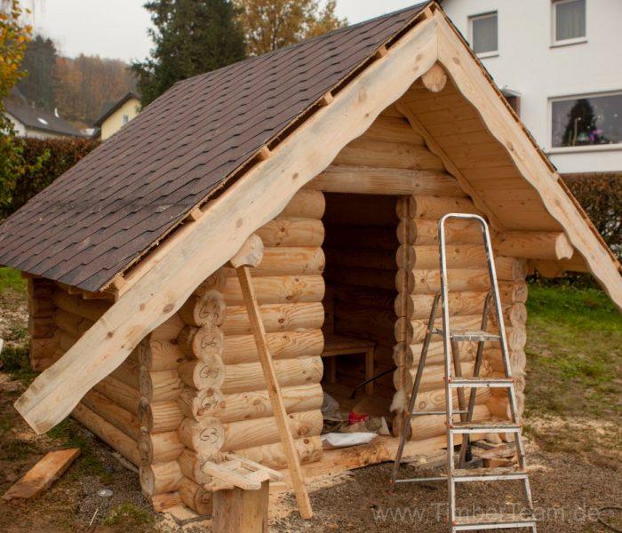 Gartensauna Blockhaus selber bauen Fotostrecke 115