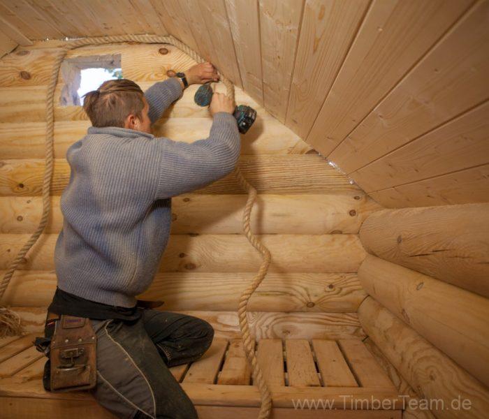 Gartensauna Blockhaus selber bauen Fotostrecke 122