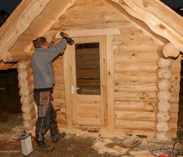 Gartensauna Blockhaus selber bauen Fotostrecke 125