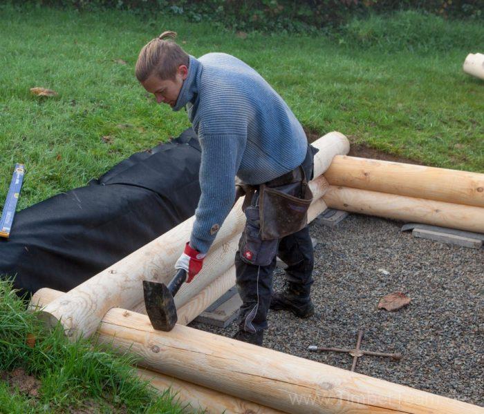 Gartensauna Blockhaus selber bauen Fotostrecke 13