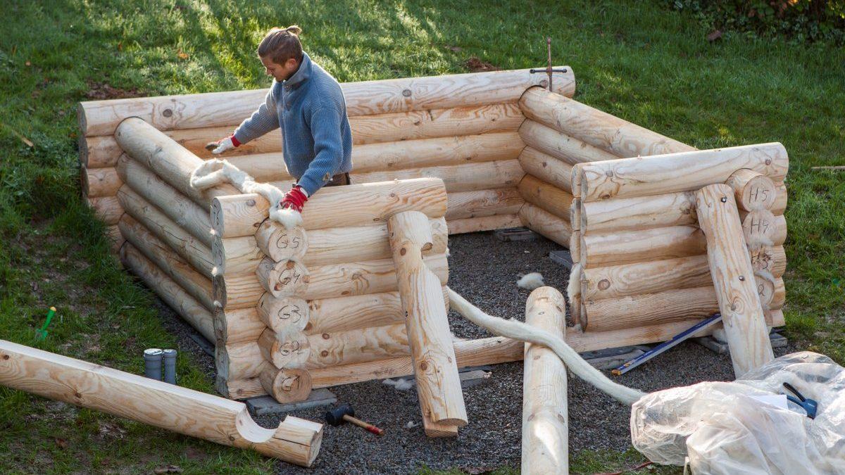 Sauna Selber Bauen Mit Nummerierten Blockbohlen Bausatz