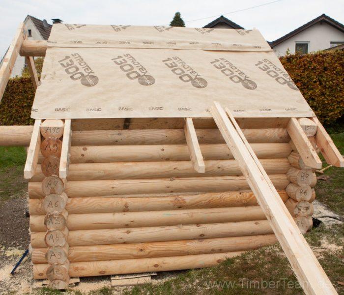 Gartensauna Blockhaus selber bauen Fotostrecke 70