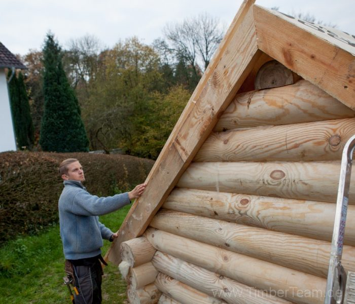 Gartensauna Blockhaus selber bauen Fotostrecke 66