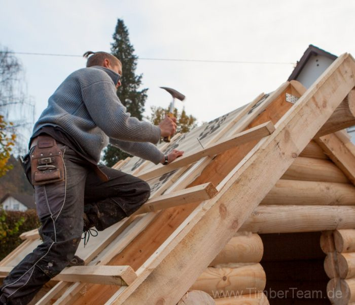 Gartensauna Blockhaus selber bauen Fotostrecke 75