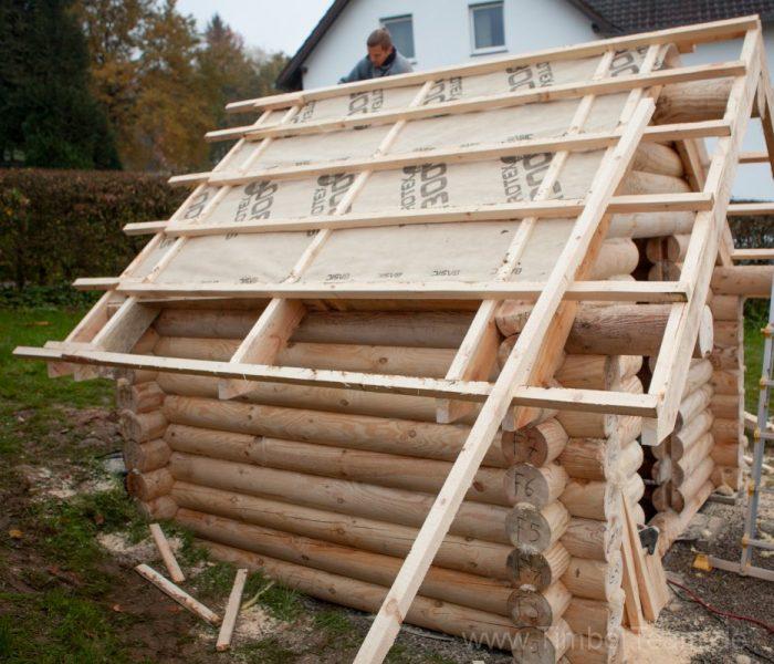 Gartensauna Blockhaus selber bauen Fotostrecke 82