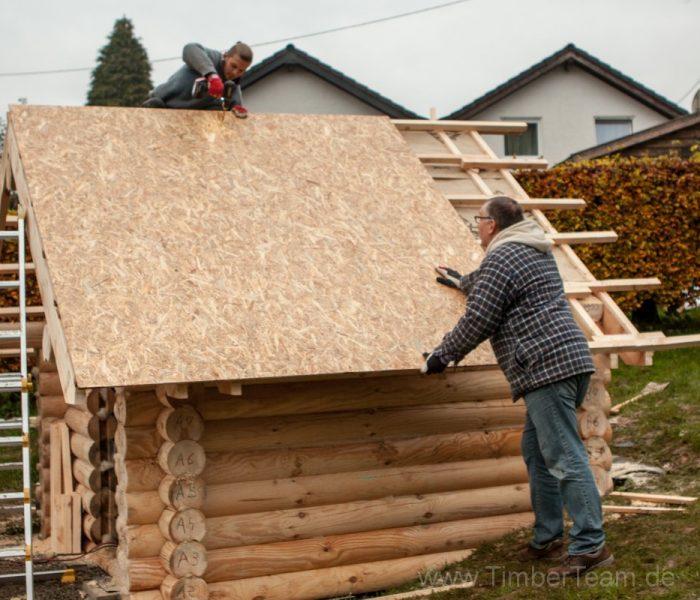 Gartensauna Blockhaus selber bauen Fotostrecke 84