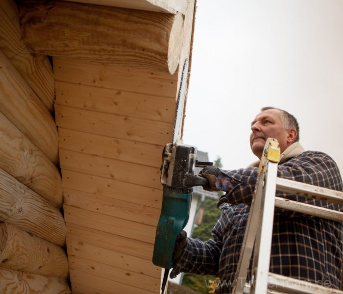 Gartensauna Blockhaus selber bauen Fotostrecke 90