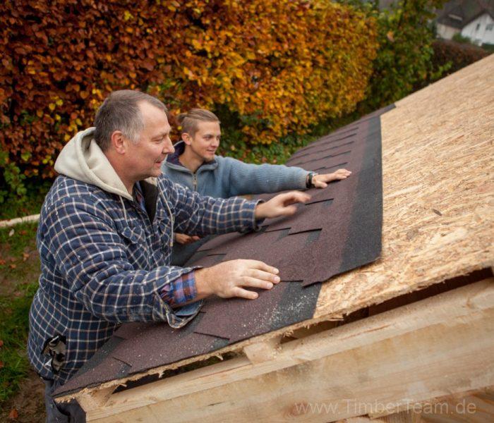 Gartensauna Blockhaus selber bauen Fotostrecke 96