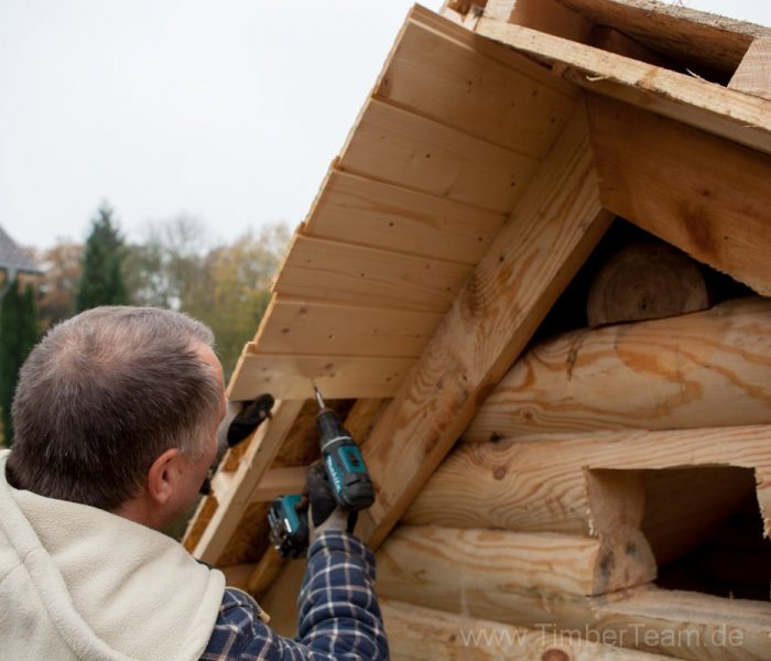 Gartensauna Blockhaus selber bauen Fotostrecke 99